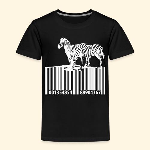 zebra barcode - Kinder Premium T-Shirt