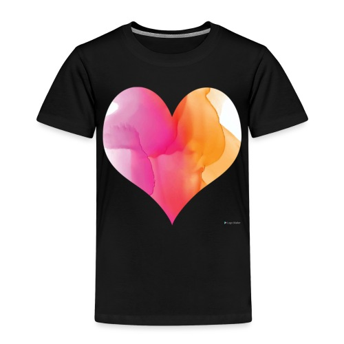 Love Heart Design - Kids' Premium T-Shirt