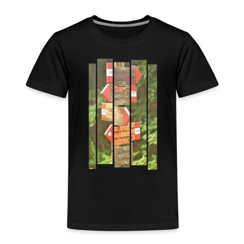 De verwarde hike - Kinderen Premium T-shirt