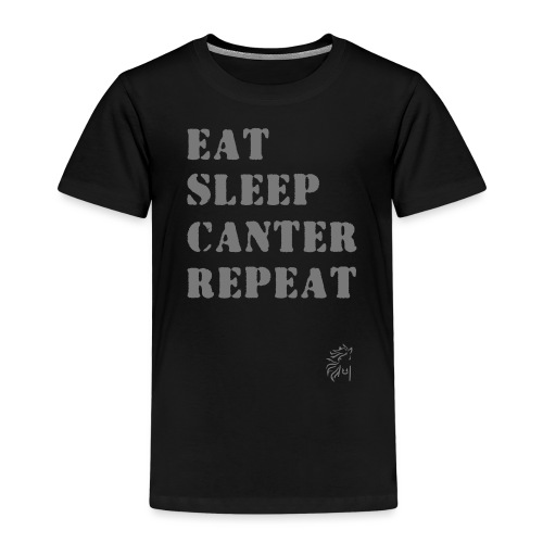 Eat Sleep Canter Repeat - Pferd Reiten VECTOR - Kinder Premium T-Shirt