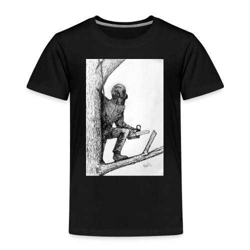 Arborist Tree Surgeon Using a Chainsaw - Kids' Premium T-Shirt