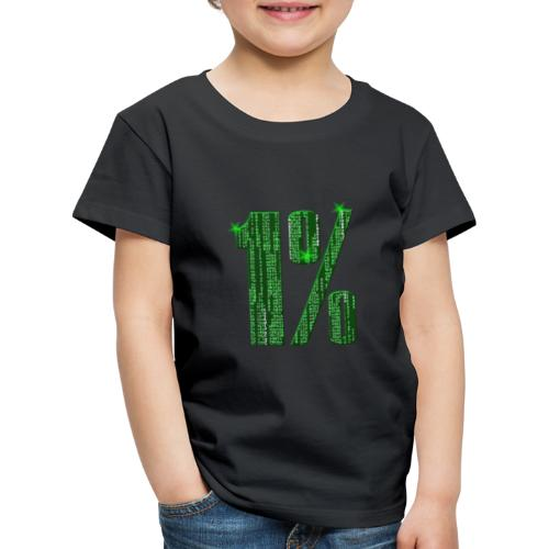 1 % Matrix - Kinder Premium T-Shirt