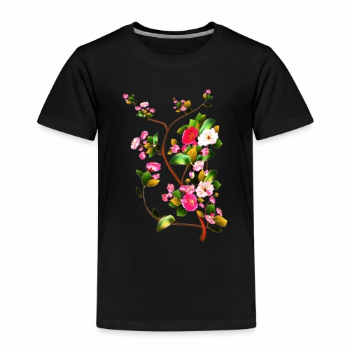 Twig of cherry blossoms - Kids' Premium T-Shirt