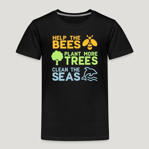 Help the Bees Plant More Trees Hilf den Bienen - Kinder Premium T-Shirt