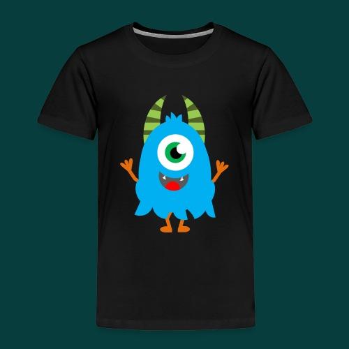 Lachendes Blaues Monster - Kinder Premium T-Shirt