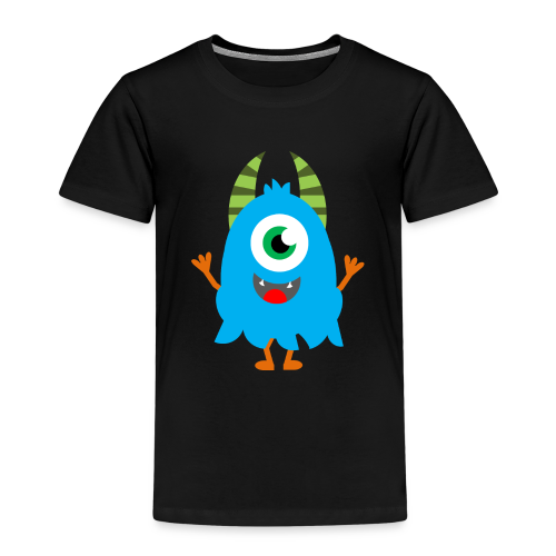Lachendes Blaues Monster - Kinder Premium T-Shirt