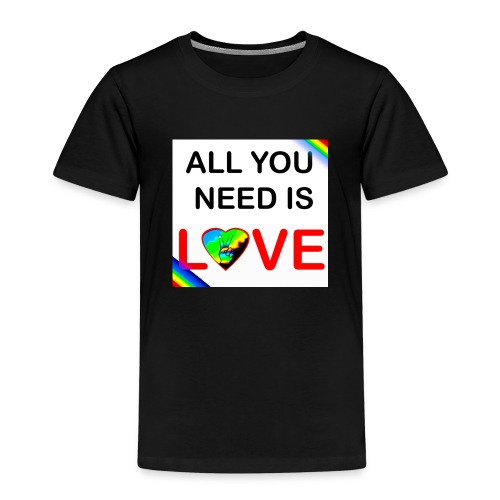 all you need is peace and love - T-shirt Premium Enfant