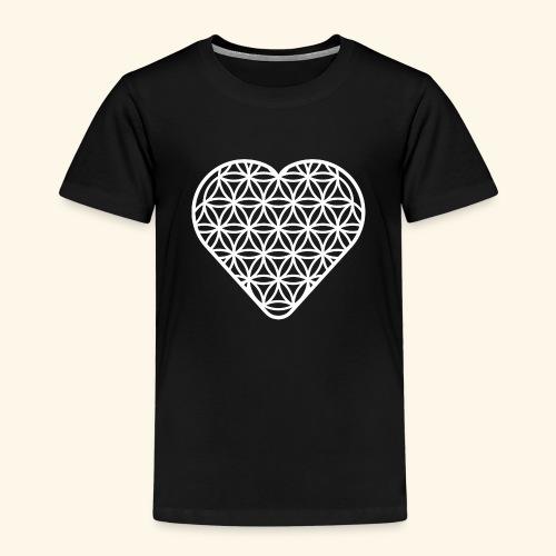 Lebensblume Herz white - Kinder Premium T-Shirt