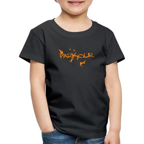Parkour Orange - Børne premium T-shirt