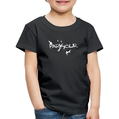 Parkour White Print - Børne premium T-shirt