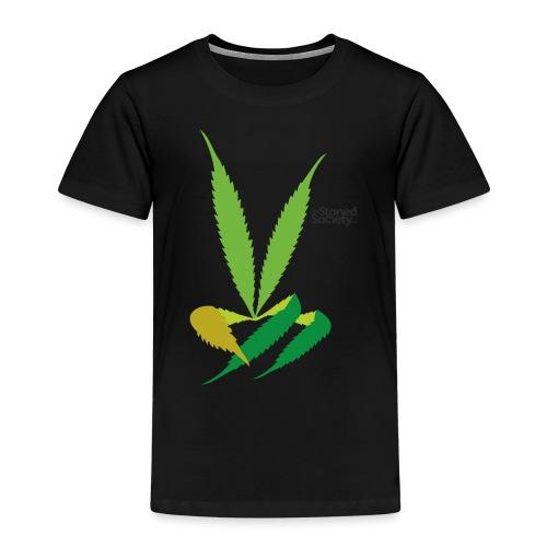 LeafHandDes3 png - Kinderen Premium T-shirt