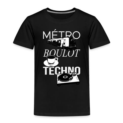 Metro Boulot TECHNO! - T-shirt Premium Enfant