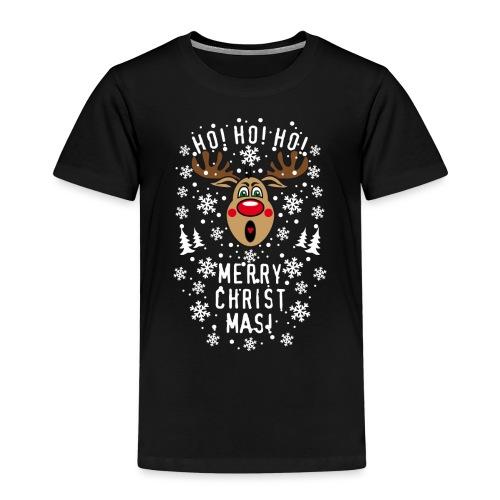 75 Hirsch Rudolph Ho Ho Ho Merry Christmas Schrei - Kinder Premium T-Shirt