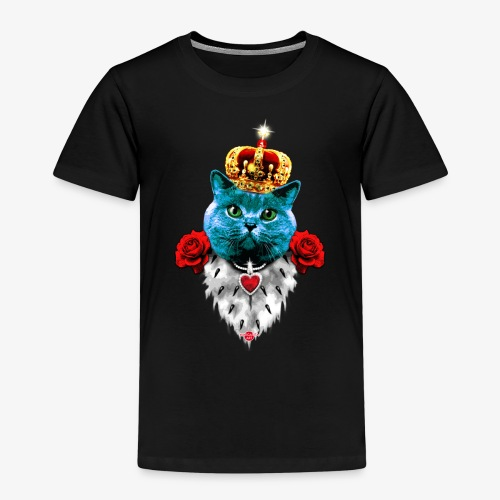 18 Blue Cat King Red Roses Blaue Katze König Rosen - Kinder Premium T-Shirt