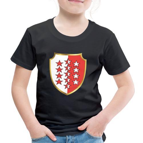 Valais Wallis Gold Or - Kinder Premium T-Shirt