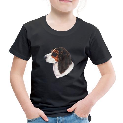 bassethound color - Børne premium T-shirt
