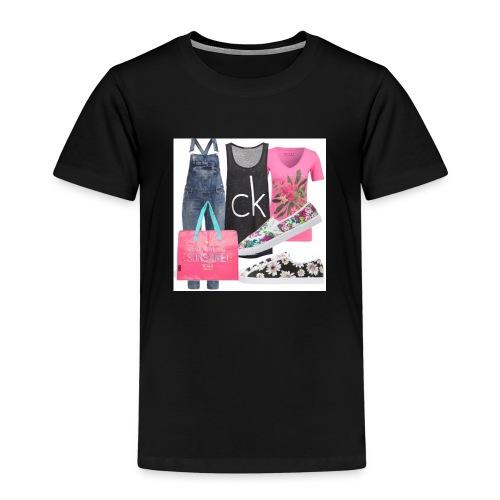 outfit pace e amoreio amo il colore - Maglietta Premium per bambini