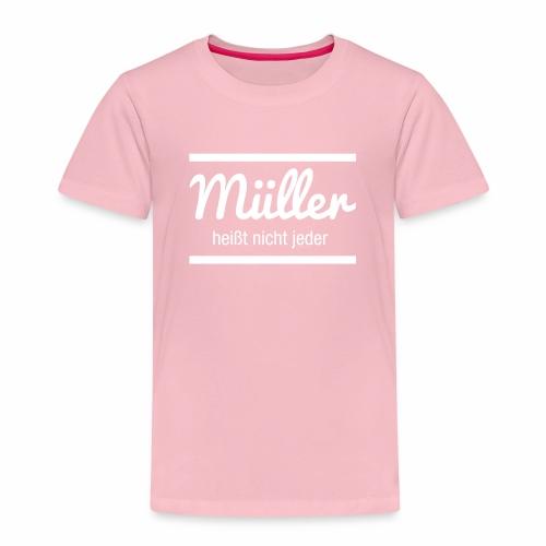 Müller Namensschild - Kinder Premium T-Shirt