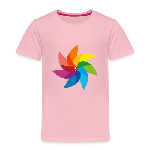 bunte Windmühle Kinderspielzeug Regenbogen Sommer - Kids' Premium T-Shirt