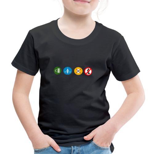 4kriteria ubi rechthoek trans - Kinderen Premium T-shirt