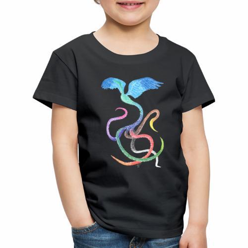 Gracieux - Oiseau arc-en-ciel à l'encre - T-shirt Premium Enfant