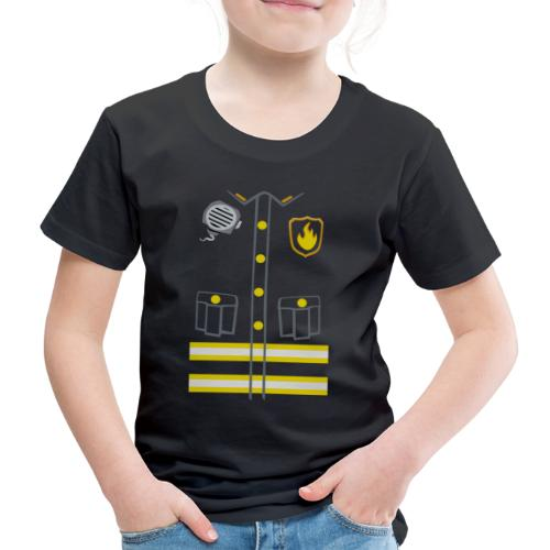 Kids Fireman Costume - Dark edition - Kids' Premium T-Shirt
