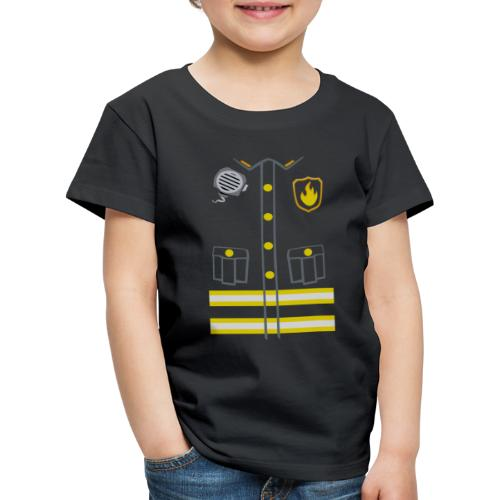 Fireman Costume - Dark edition - Kids' Premium T-Shirt
