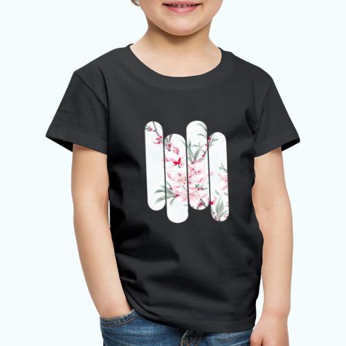 Vintage Japan watercolor flowers - Kids' Premium T-Shirt