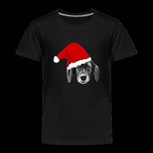Weihnachten Hundekopf mit Mütze - Kinder Premium T-Shirt