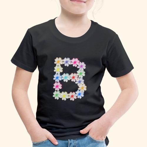 Buchstabe B aus Blumen, floral, Kosmee Blüten - Kinder Premium T-Shirt