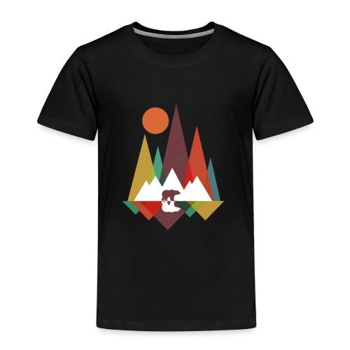 Bär in den Bergen - Kinder Premium T-Shirt