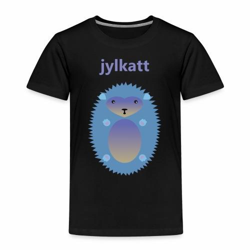 Blå Jylkatt Bornholmsk ord - Børne premium T-shirt