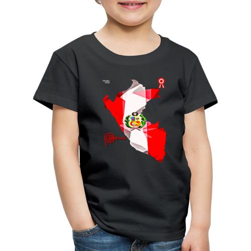 Mapa del Perú, Bandera y Escarapela - Camiseta premium niño