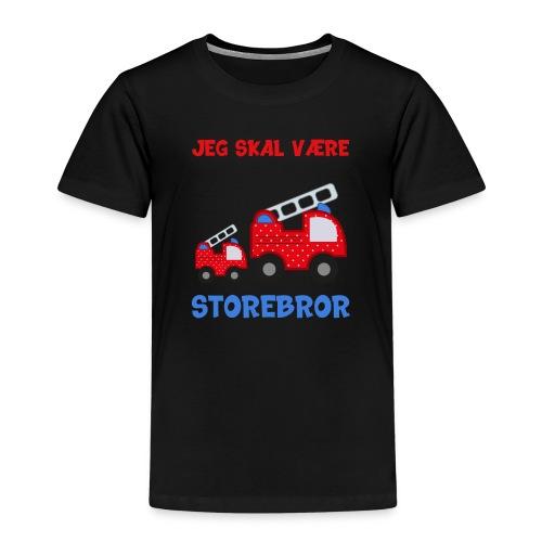 Jeg skal være storebror brandbil gave brandvæsen - Børne premium T-shirt