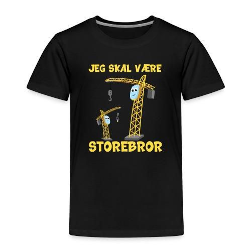 Jeg skal være storebror kran gave muddermaskine - Børne premium T-shirt