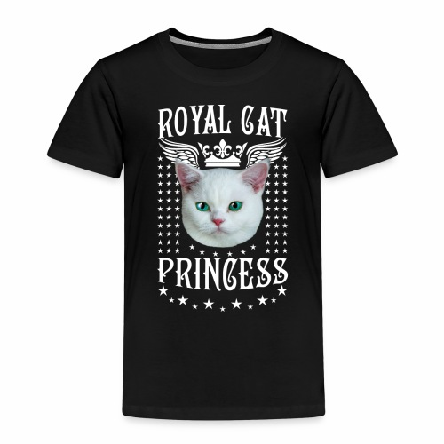 26 Royal Cat Princess white feine weiße Katze - Kinder Premium T-Shirt