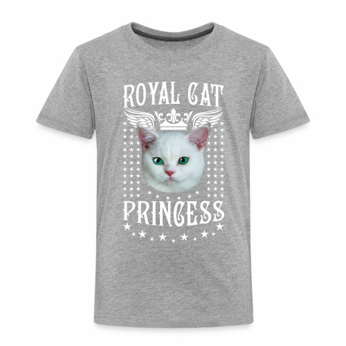 26 Royal Cat Princess white feine weiße Katze - Kinder Premium T-Shirt