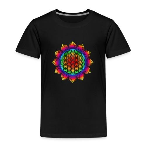 Blume des Lebens - Lotus - Flower of Life - Herz - Kinder Premium T-Shirt