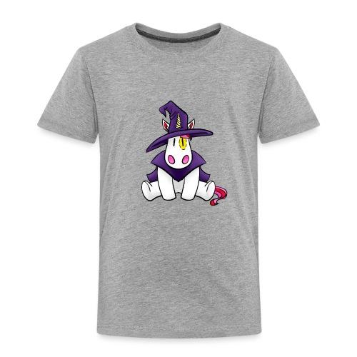 Einhorn als Hexe zu Halloween - Kinder Premium T-Shirt