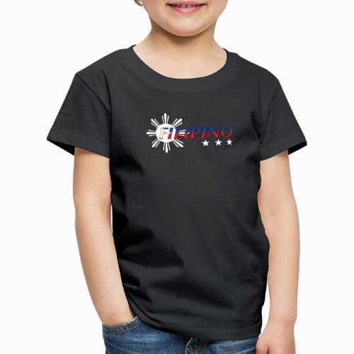 Filipino Flag Print Sun And Stars Bright - Kinder Premium T-Shirt