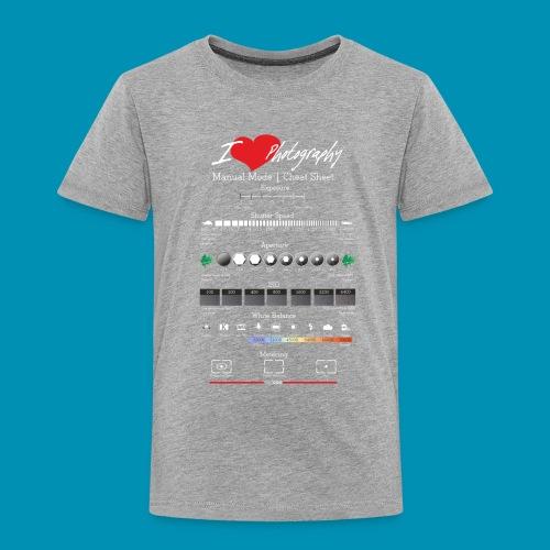 I love Photography White red png - Maglietta Premium per bambini