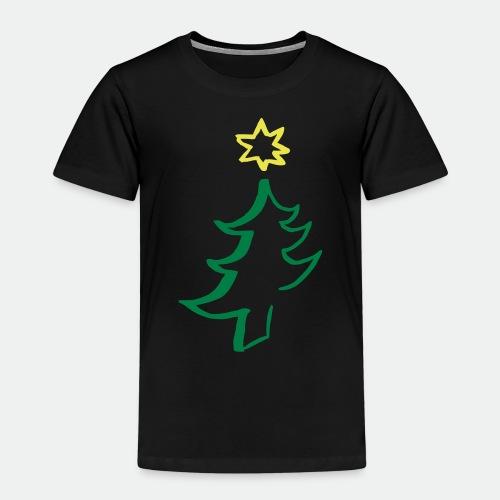 diagonal christmas tree - Kids' Premium T-Shirt