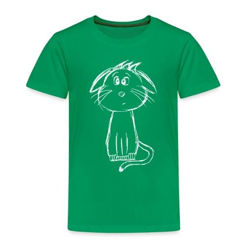 Kissa Kissanpentu valkoinen scribblesirii - Lasten premium t-paita