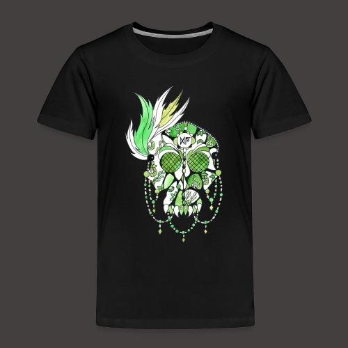 CRANE DENTELLE VERT FOND NOIR - T-shirt Premium Enfant