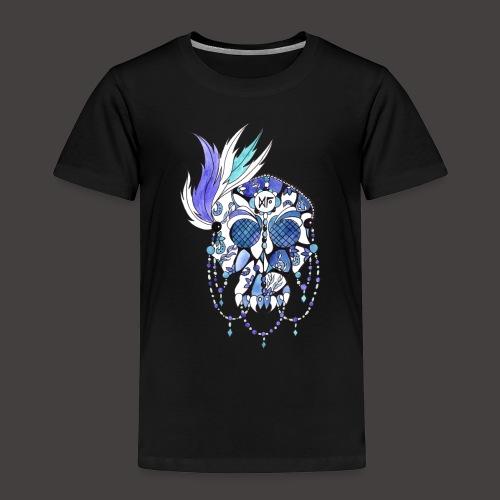 CRANE DENTELLE BLEU FOND NOIR - T-shirt Premium Enfant