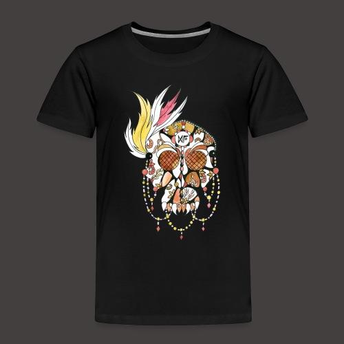 Crane dentelle Feu fond noir - T-shirt Premium Enfant