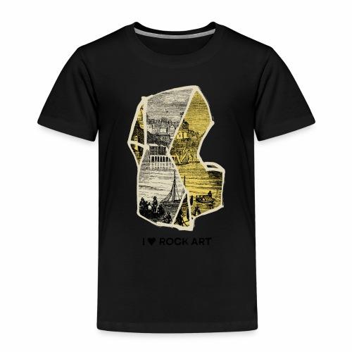 I LOVE ROCK ART No 2 colour - Kinderen Premium T-shirt