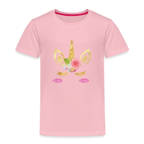 unicorn face - Kinder Premium T-Shirt