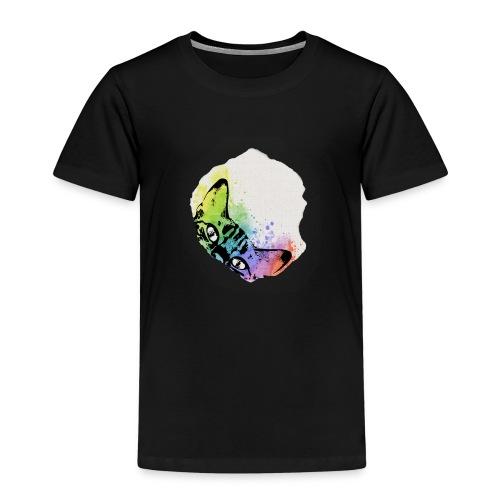 Katze Aquarell Loch - Kinder Premium T-Shirt