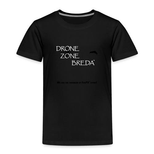 DroneZone Breda 2016LOGO Black TXT White Drones - Kinderen Premium T-shirt